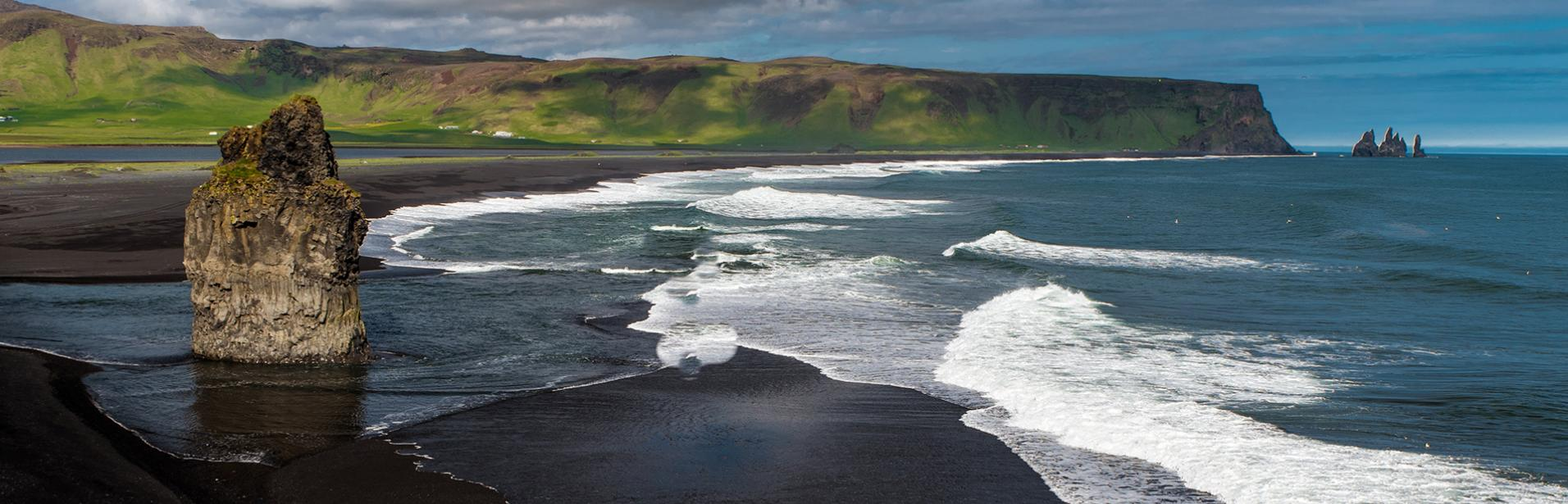 south coast, iceland, reynisfara beach