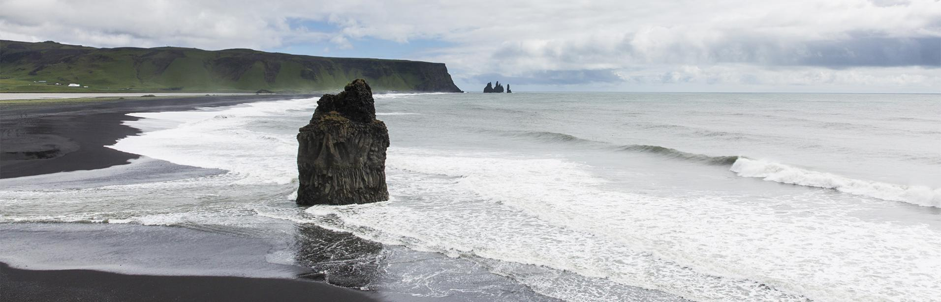 reynisdrangar, beach, south coast, Iceland