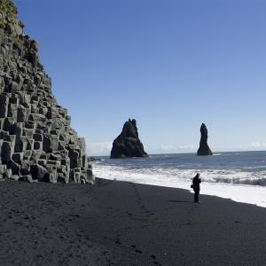 Self drive tour south Iceland: black beach Reynisfjara, south Iceland.